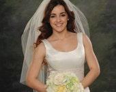 Light Ivory Bridal Veils 1 Layer Elbow Length 34 Single Tier White Wedding Veils Plain Cut Edge 72 Wide Illusion Head Piece Off White