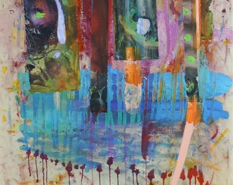 I Am Calling It FREEDOM - Original Abstract Acryllic painting on canvas