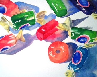 Candy Still Life in Watercolor
