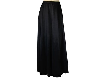 Plus Size Black Skirt Taffeta Maxi Long Formal Evening Skirt 0X 1X 2X 3X
