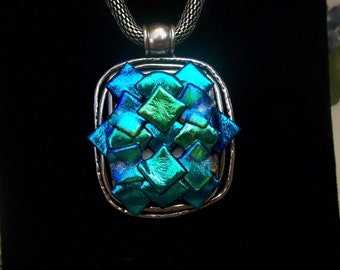Dichroic Glass Statement Necklace