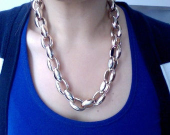 Rose Gold Rolo Chain Necklace -Celebrity Necklace  - Chain Necklace