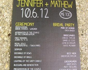 Bright and Bold Urban Themed Wedding Programs: DCo Lovenotes