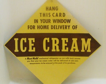 Vintage Ice Cream Sign Collectible