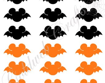 Halloween Mickey Mouse Vinyl Decals/Stickers (set of 18)