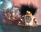 OOAK Ornament Steampunk Gold Leather Purse