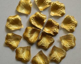 Gold Rose Petals 1000pcs/lot Silk Rose Petals Gold Flower Petals For Wedding Party Decoration Table Confetti HB-LX-015