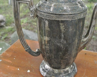 Lovely Silver Plate Coffee Pot 1930s Made by Sheets Silver Co Rockford Illinois