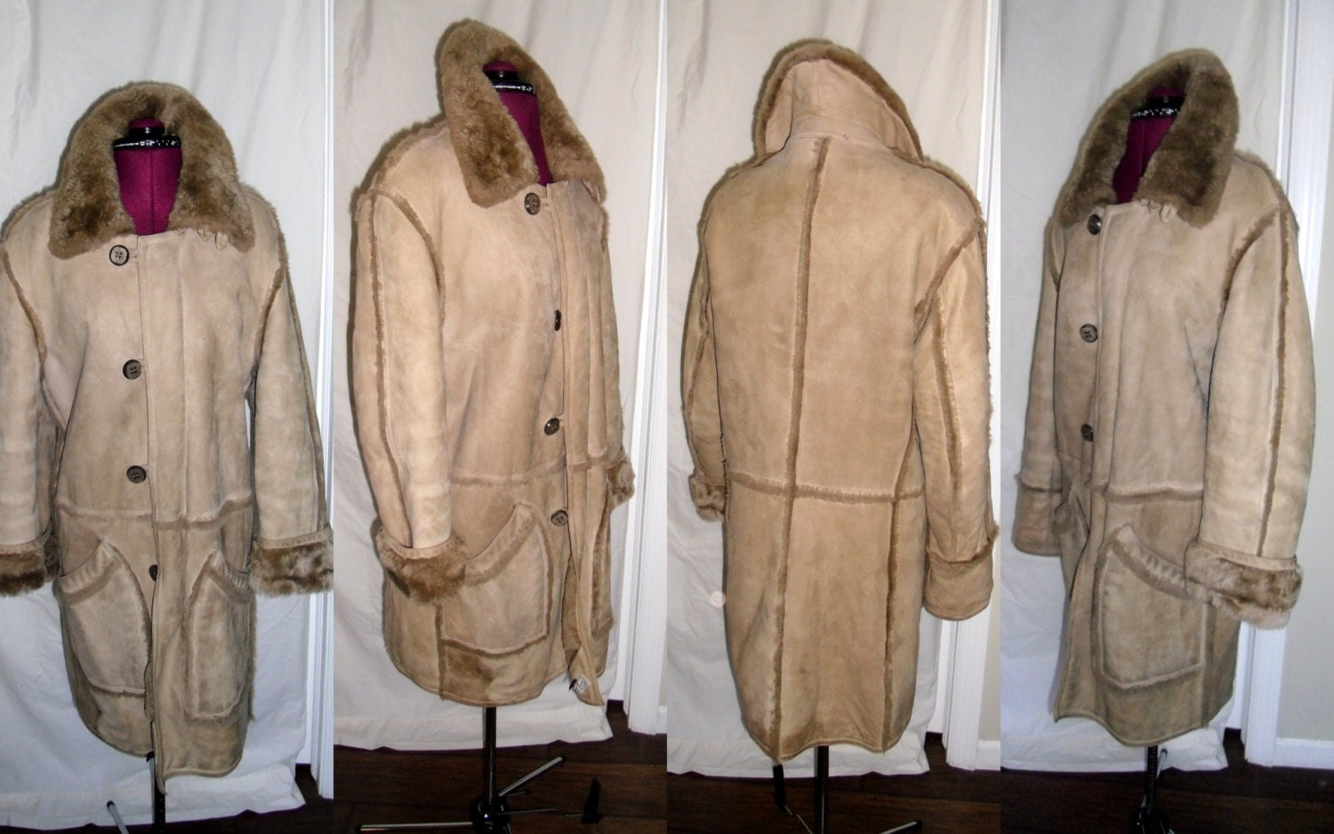 HUC Of Sweden Shearling Coat Vintage 1970&39s by SaLvAGeThEoRy