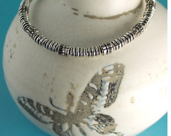 Bangles, Bangles and More Bangles - Silver & Pewter Bead Bracelet