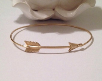 Large arrow bangle, arrow bangle, arrow bracelet, gold arrow, arrow, arrow jewelry