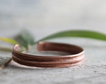 Copper Jewelry, Men Bracelet, Copper Bracelet, Bangle cuff, Copper cuff, Hammered copper, Textured copper, Gypsy, Metal bracelet, women cuff