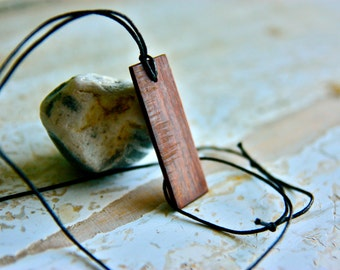 Mens necklace, Wood pendant, Jewelry, Wood necklace, Wooden pendant, Customizable pendant, Men jewelry, Birthday gift, minimal jewelry, boho