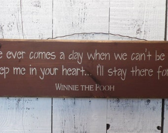 wood sign, winnie the pooh, wall decor, wall art