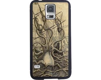 Vintage Kraken case For The Samsung Galaxy S4, S5, S6, S6 Edge, S7, S7 Edge, S8 or S8 Plus.