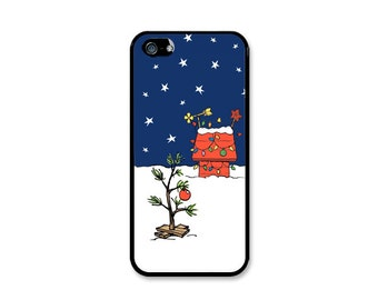 Charlie Brown Inspired Christmas Tree Phone Case! Choose iPhone 4/4s, 5/5s, 5c or Galaxy S4, S5.