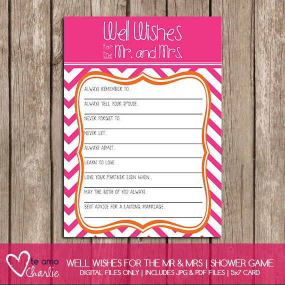 Items Similar To Well Wishes For The Mr. And Mrs Wedding
