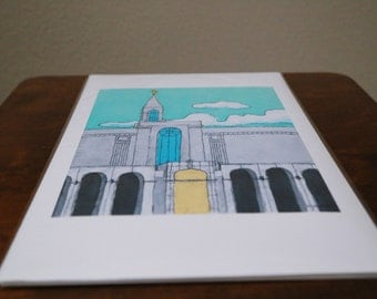 Bountiful temple giclee print on 11x17 inch enhanced matte paper.