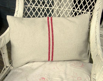 Burlap Cushion Cover