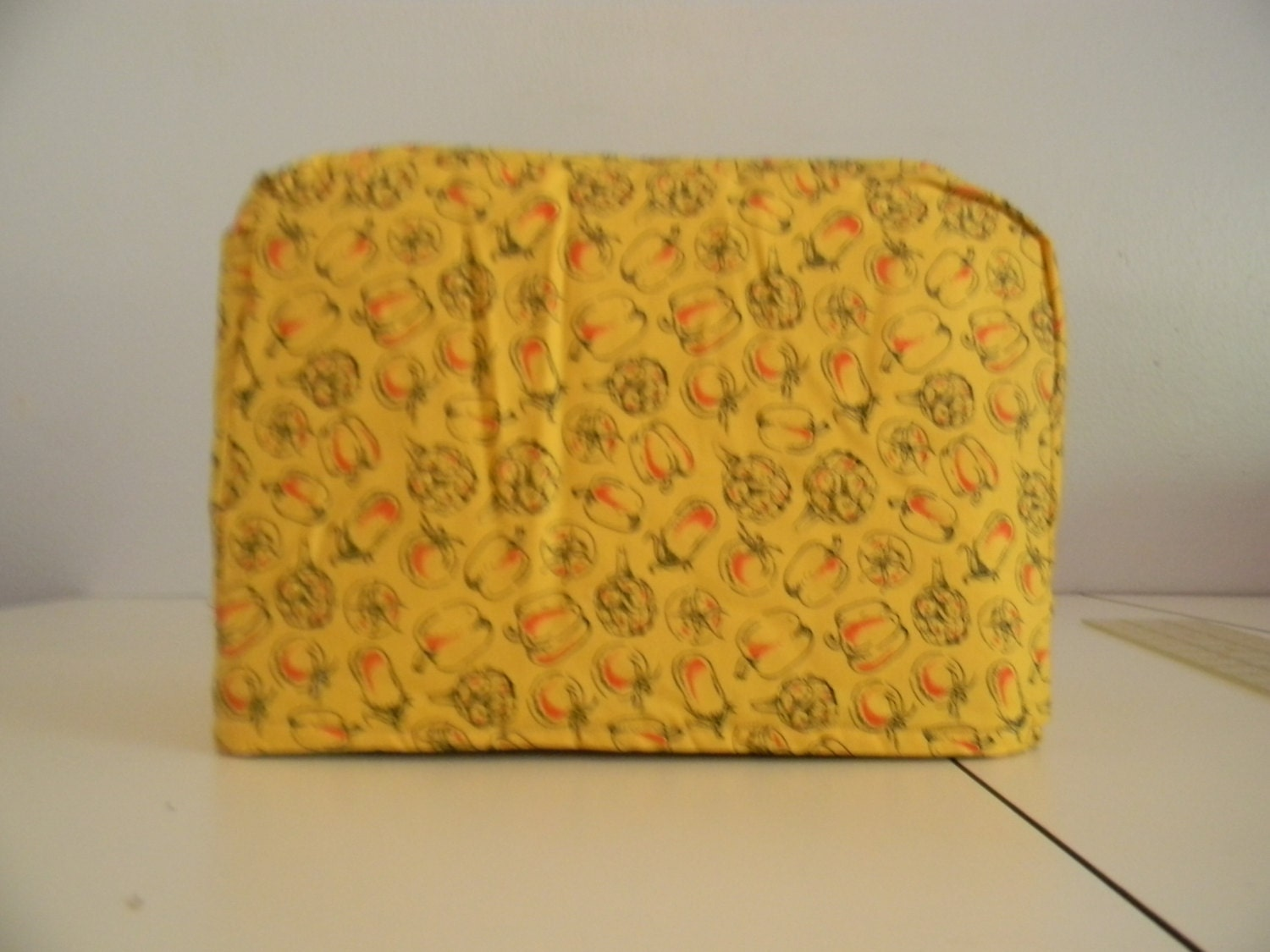 toaster cover 2 slice yellow with vegetables. Black Bedroom Furniture Sets. Home Design Ideas