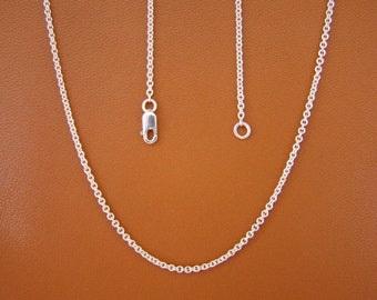 "1.7mm, 20"" Cable Chain, Sterling Silver"