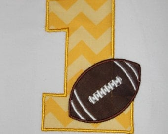 Football Birthday Number Shirt or Onesie - Custom Monogrammed