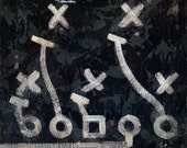 Football Playbook wall art X's and O's by Aaron Christensen- Multiple Sizes Available