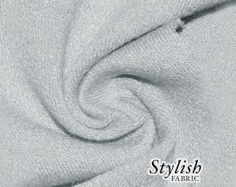 Silver Crepe Viscose Fabric Jersey Knit Viscose Jersey Fabric Soft Fabric Viscose by the yard - 550