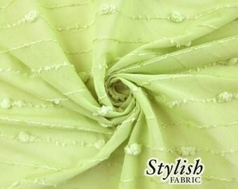 Apple Green Stripe Sequins Fabric - 1 Yard Style 2609