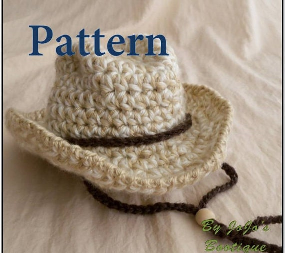 Crochet Pattern For Cowboy Hat And Boots : Baby Cowboy Hat PATTERN Baby Cowboy Hat Western Hat