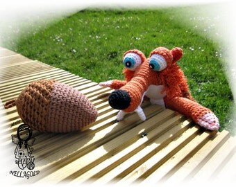 Crochet PATTERN, Ice Age, Squirrel, Toy, DIY Pattern 77