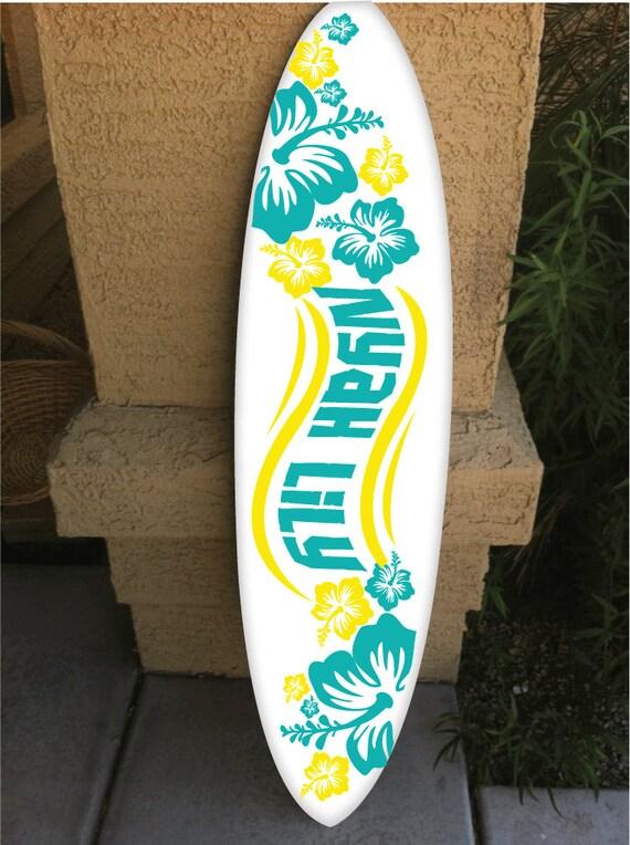 Wall Hanging Surf Board Surfboard Decor Hawaiian Beach Surfing