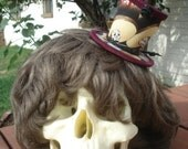Day of the Dead Mariachi Clip-on Mini Top Hat