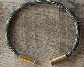 BRZN Recycled .22lr Bullet Casing Army Camo 550 Paracord Bracelet