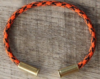 BRZN Recycled .22lr Bullet Casing Halloween Camo 550 Paracord Bracelet