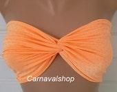 PADDED Spandex Bandeau-Swimwear-swimsuit-bikini top-neon peach