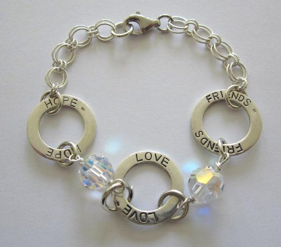 Bridal Positivity Silver Bracelet