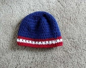 Crochet Adult Unisex USA OLYMPIC color BEANIE Zac Brown Hat handmade - CanyonRiver