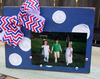 Red, White, and Blue Distressed 4x6 Picture Frame