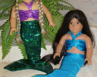 American Girl Doll Mermaid Costume; American Girl Mermaid Tail