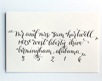 Custom Calligraphy Envelopes-- Style: nicholas