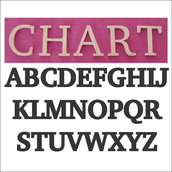 Charter font individual oak wood wall letters names by