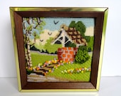 Needlepoint Picture Wishing Well