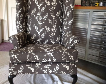 wingback chair - new custom upholstery