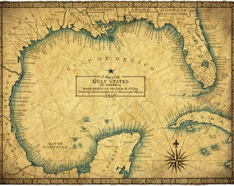 Old Savannah Map Etsy - Old savannags in us map