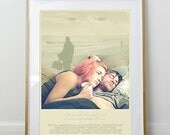 Eternal Sunshine of the Spotless Mind Poster // Jim Carrey // Kate Winslet // Minimal Movie Poster // 11 x 17 // A3 // RIBBA 290 x 390mm