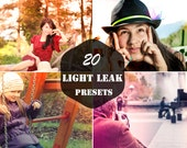 20 Light Leak Presets for Photography Editing Retouching