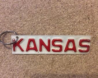 License Plate  Keychain KANSAS License Plates Craft