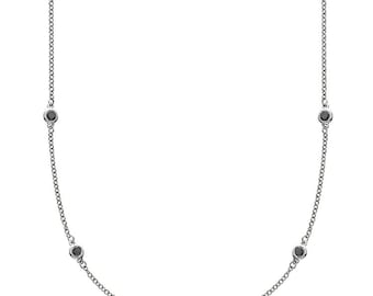 Endless White Gold & Black Diamond Necklace