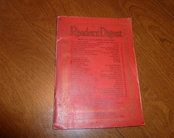 An early edition Readers Digest from 1934.
